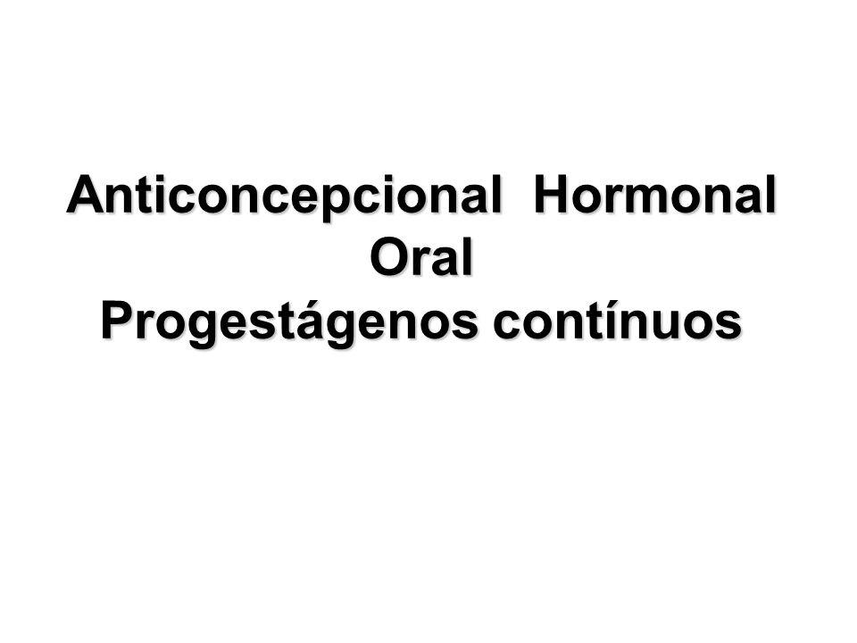 Anticoncepcional Hormonal Oral Progestágenos contínuos