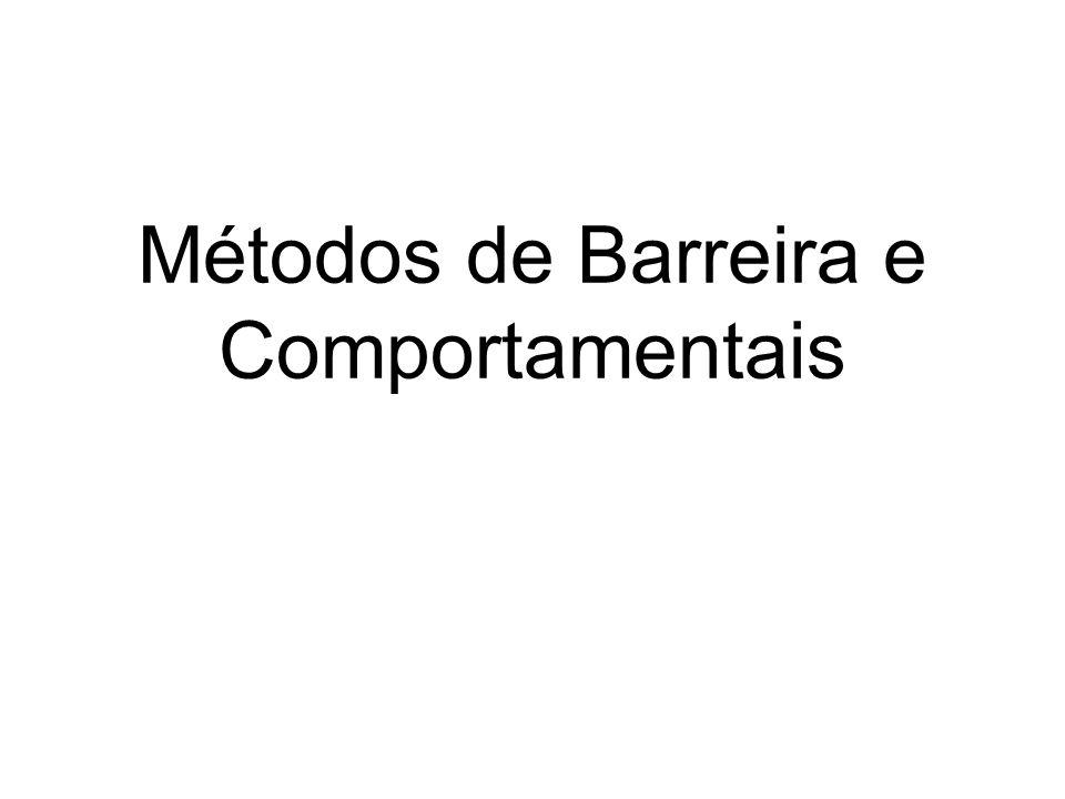 Métodos de Barreira e Comportamentais