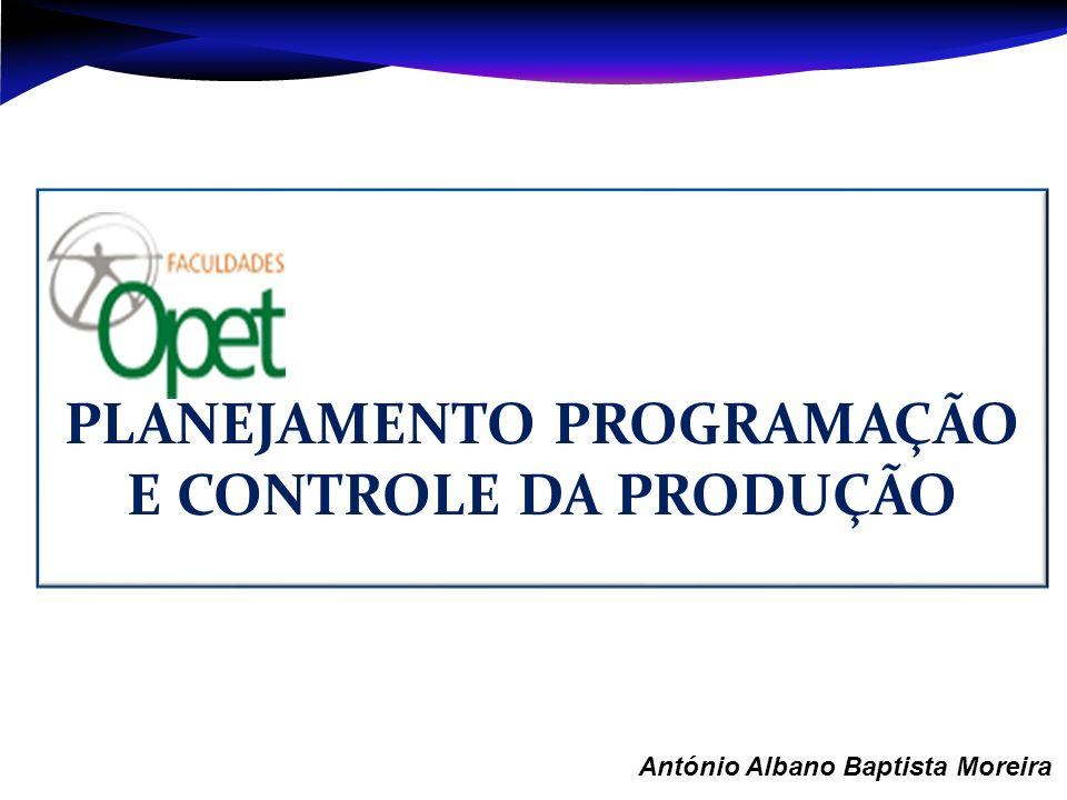 Aula 1 – António Albano Baptista Moreira PLANEJAMENTO PROGRAMAÇÃO E CONTROLE DA PRODUÇÃO