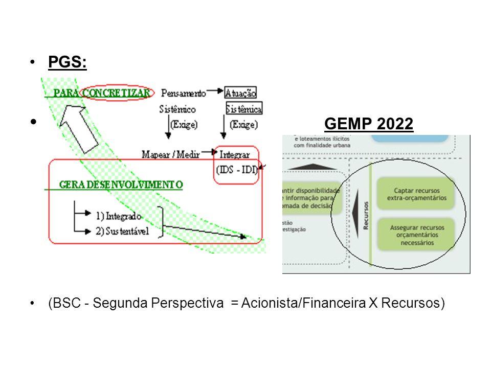 PGS: GEMP 2022 (BSC - Segunda Perspectiva = Acionista/Financeira X Recursos)