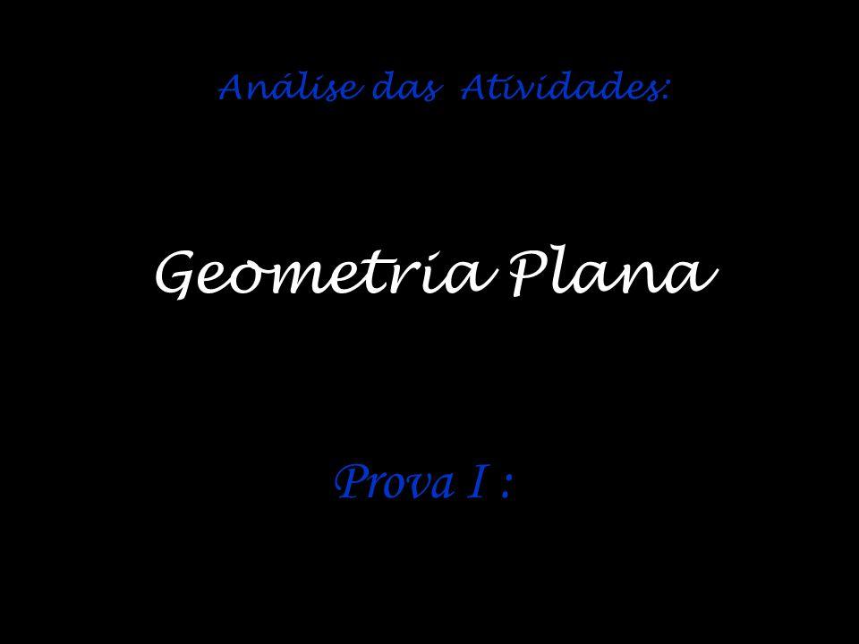Análise das Atividades: Prova I : Geometria Plana