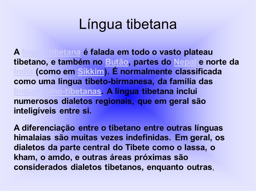 como o dzonga, siquimês, a língua sherpa e a língua ladakhi, são consideradas separadas por razões políticas.