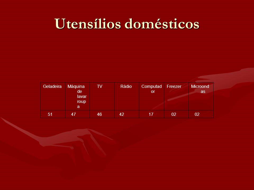 GeladeiraMáquina de lavar roup a TV RádioComputad or FreezerMicroond as 51 47 46 42 17 02 Utensílios domésticos