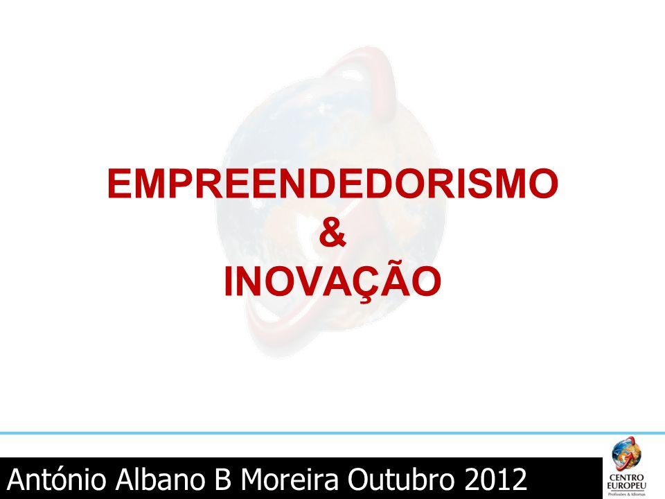 António Albano B Moreira Outubro 2012 EMPREENDEDORISMO & INOVAÇÃO
