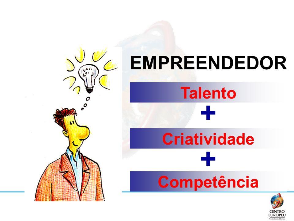 Fazendo acontecer... EMPREENDEDOR Talento Criatividade Competência + +