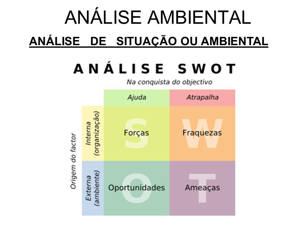 ANÁLISE AMBIENTAL ANÁLISE DE SITUAÇÃO OU AMBIENTAL