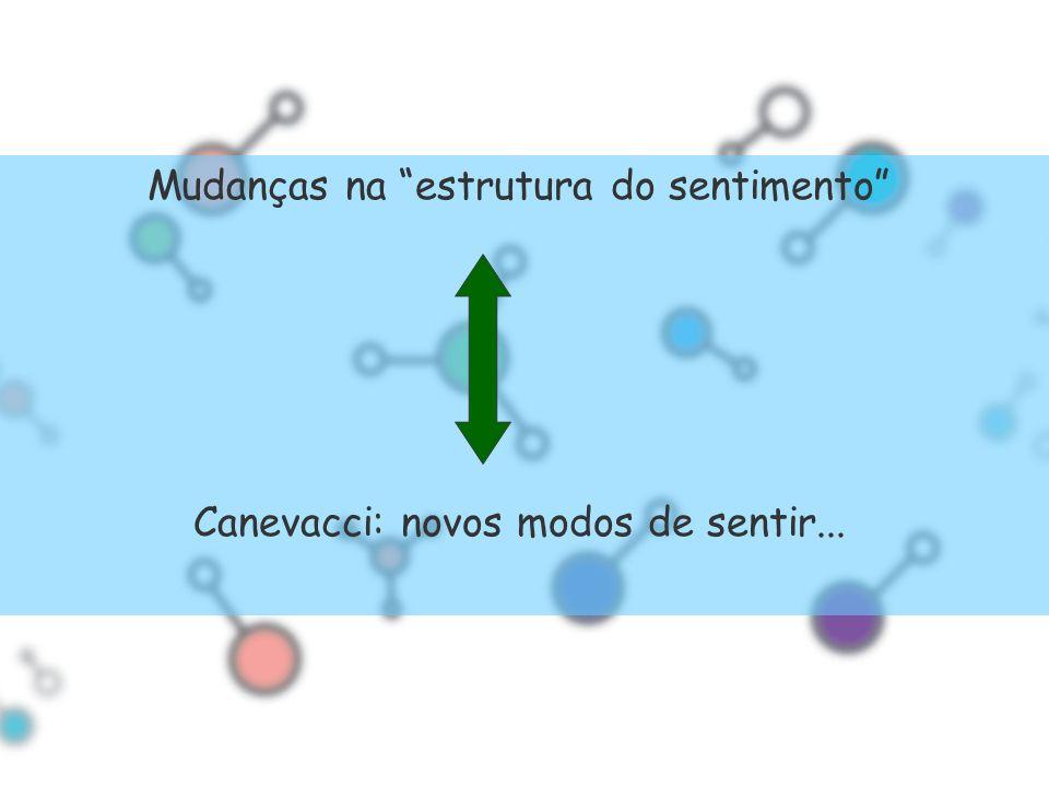 Mudanças na estrutura do sentimento Canevacci: novos modos de sentir...