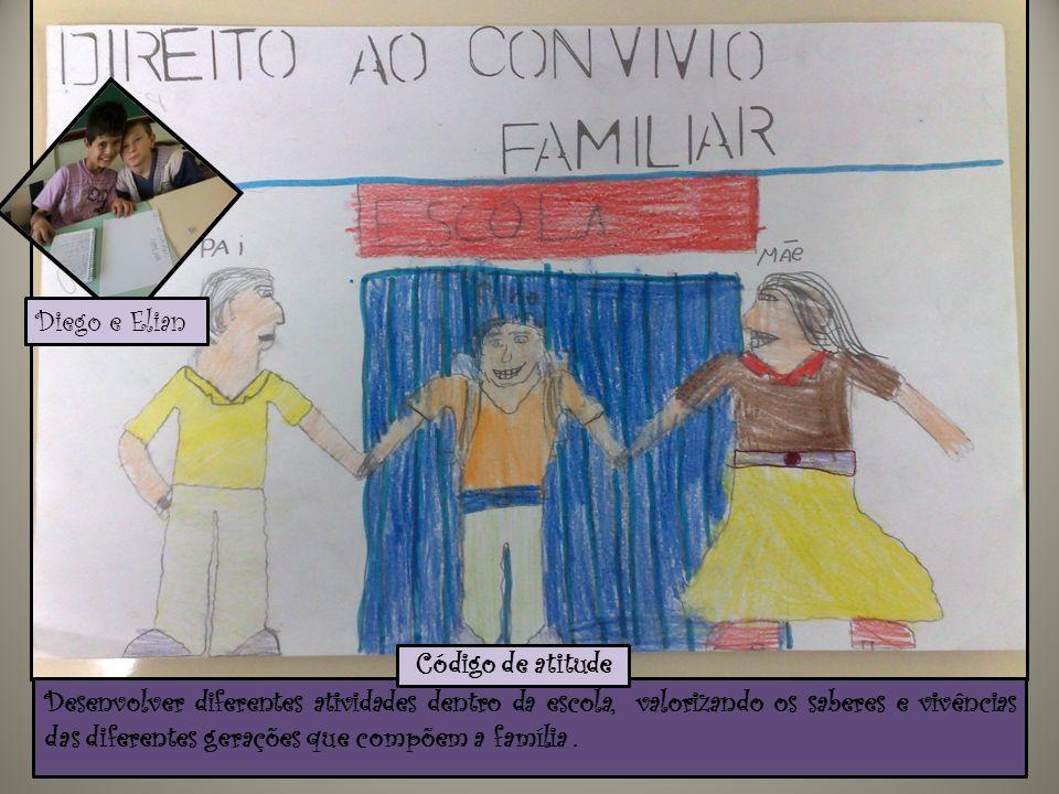 Desenvolver diferentes atividades dentro da escola, valorizando os saberes e vivências das diferentes gerações que compõem a família. Código de atitud