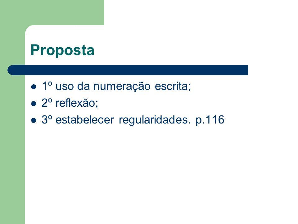 A análise das regularidades p.117 Propostas... Complexidade e provisoriedade. p.118