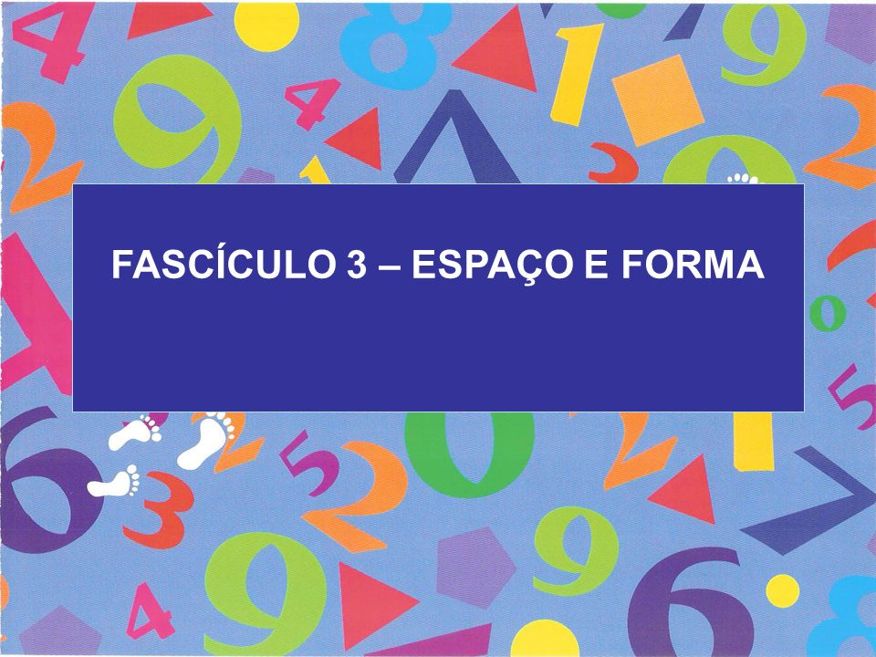 FASCÍCULO 3 – ESPAÇO E FORMA