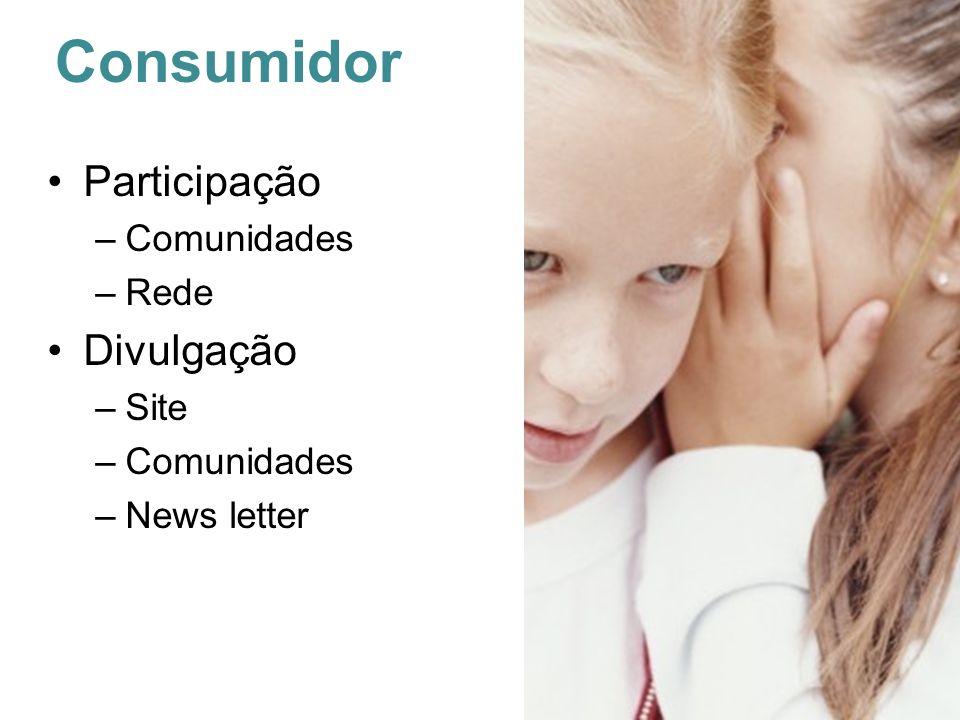Consumidor Participação –Comunidades –Rede Divulgação –Site –Comunidades –News letter