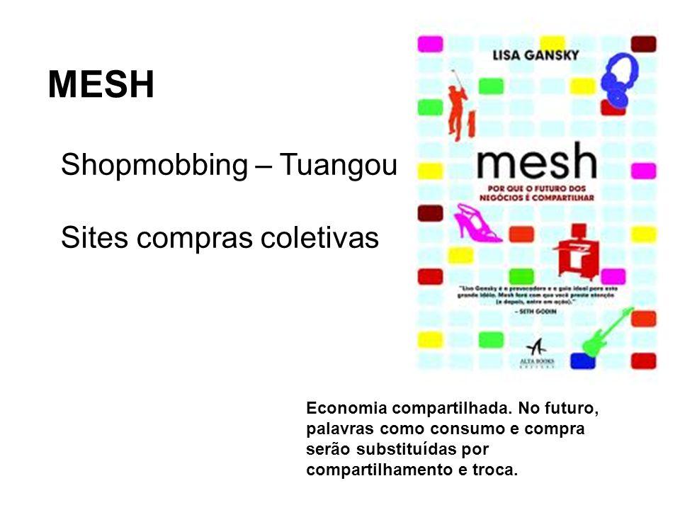 MESH Bens, produtos, serviços vão até ao consumidor! Shopmobbing – Tuangou Sites compras coletivas Economia compartilhada. No futuro, palavras como co