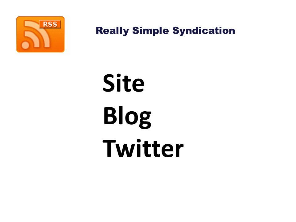 Site Blog Twitter Really Simple Syndication