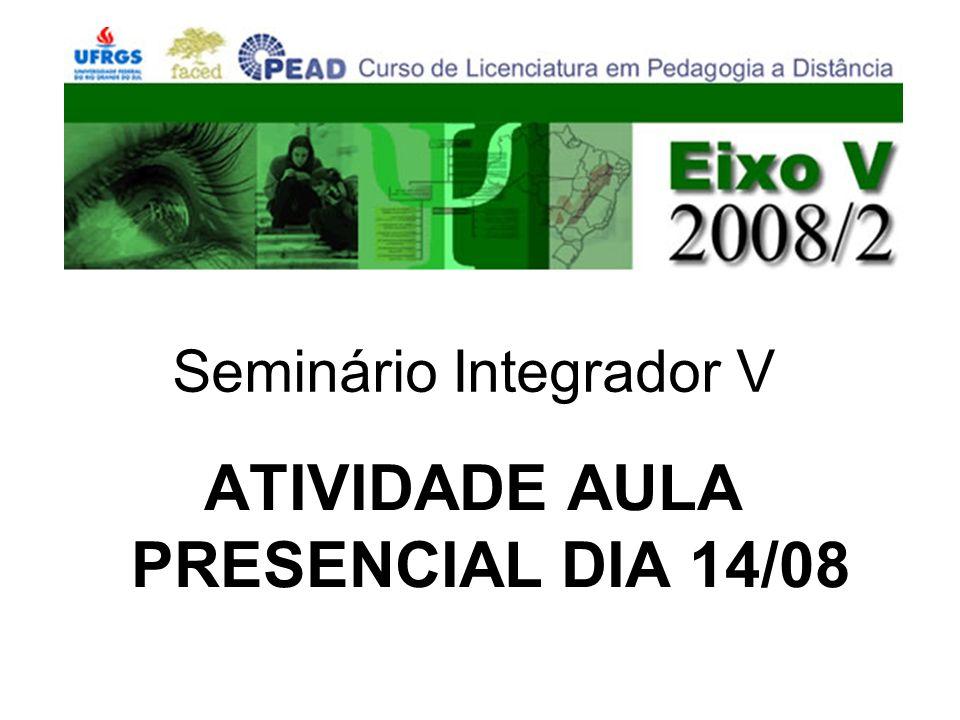 ATIVIDADE AULA PRESENCIAL DIA 14/08 Seminário Integrador V