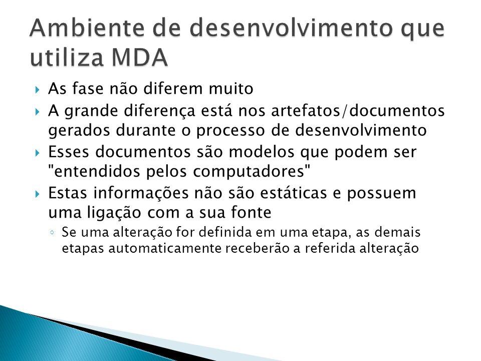 As fase não diferem muito A grande diferença está nos artefatos/documentos gerados durante o processo de desenvolvimento Esses documentos são modelos