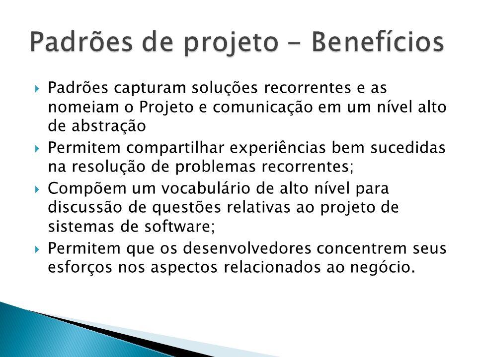 Sub-sistema semi-acabado feitos para serem estendidos Voltados para domínios particulares em termos de conceitos específicos Projeto + Código Projeto Pelo congelamento de certas decisões de projeto Código Pelo conjunto de classes abstratas e suas implementações padrão