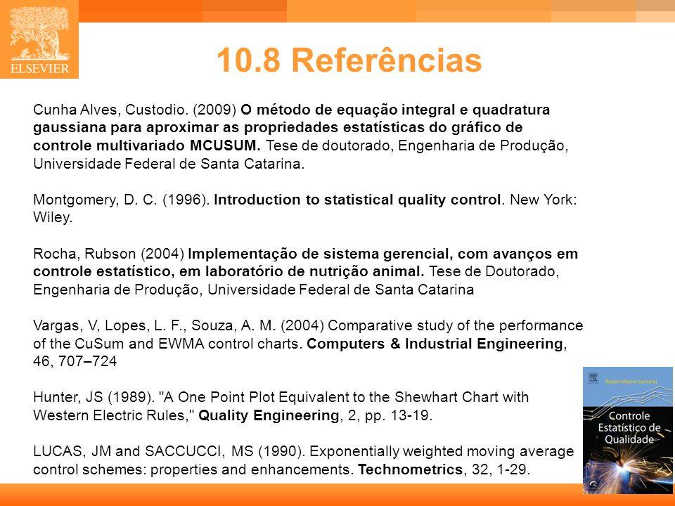 30 10.8 Referências Cunha Alves, Custodio. (2009) O método de equação integral e quadratura gaussiana para aproximar as propriedades estatísticas do g
