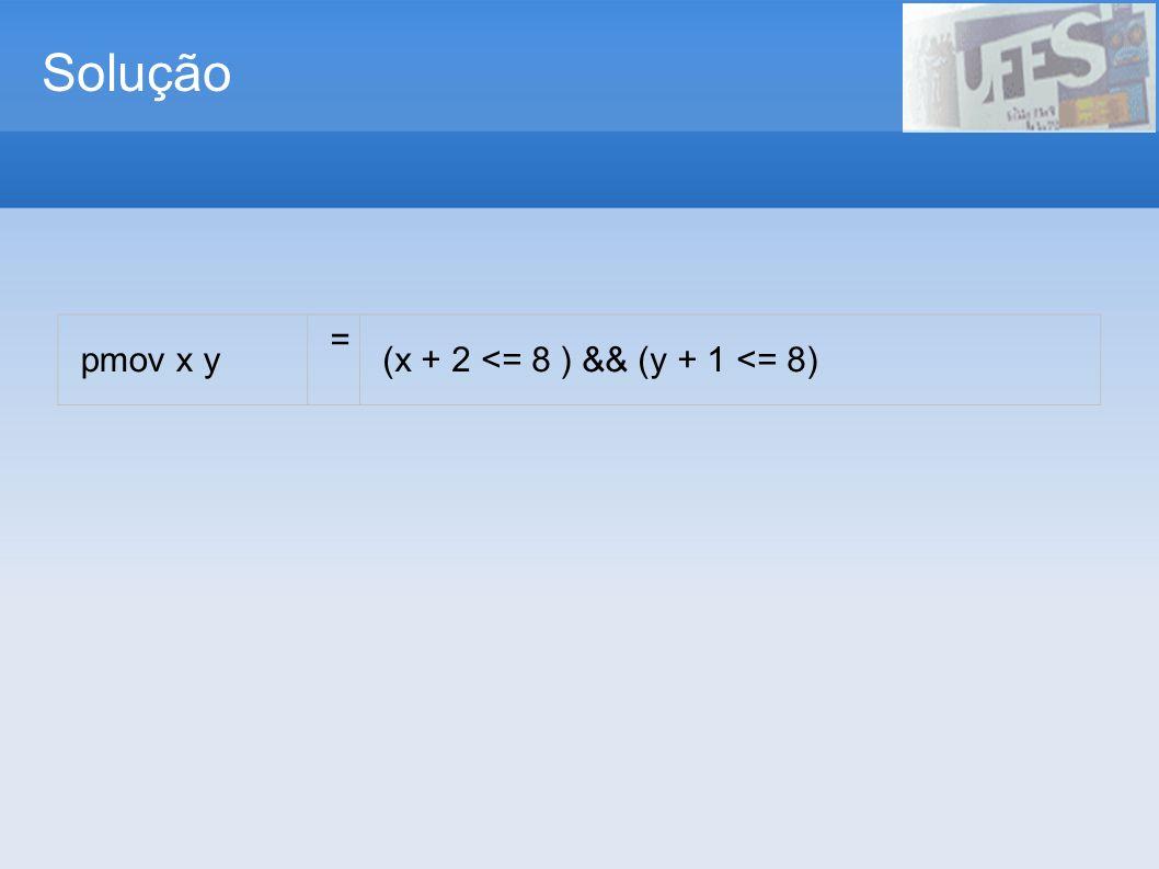 Testando a solução 8 7 6 5 4 3 2 1 12345678