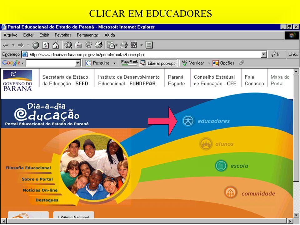 CLICAR EM EDUCADORES