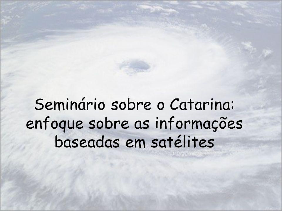 Seminário sobre o Catarina: enfoque sobre as informações baseadas em satélites