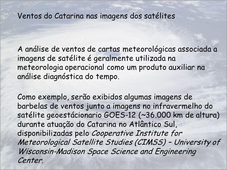 A análise de ventos de cartas meteorológicas associada a imagens de satélite é geralmente utilizada na meteorologia operacional como um produto auxili