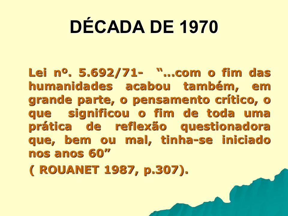Década de 1980 Na década de 1980, com a consolidação da abertura política e o desenvolvimento da Pedagogia Histórico-Crítica, ganham força as discussões sobre o currículo escolar e o papel da educação na transformação social, política e econômica da sociedade brasileira.