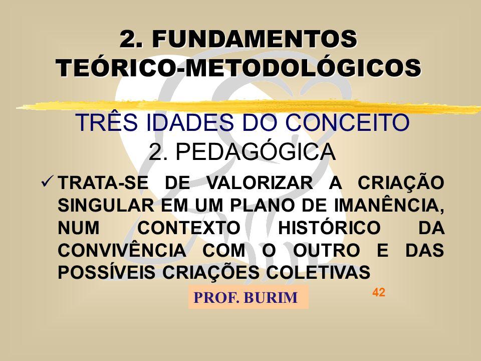 DEB 2008 – D.C.E. 42 2. FUNDAMENTOS TEÓRICO-METODOLÓGICOS TRÊS IDADES DO CONCEITO 2.