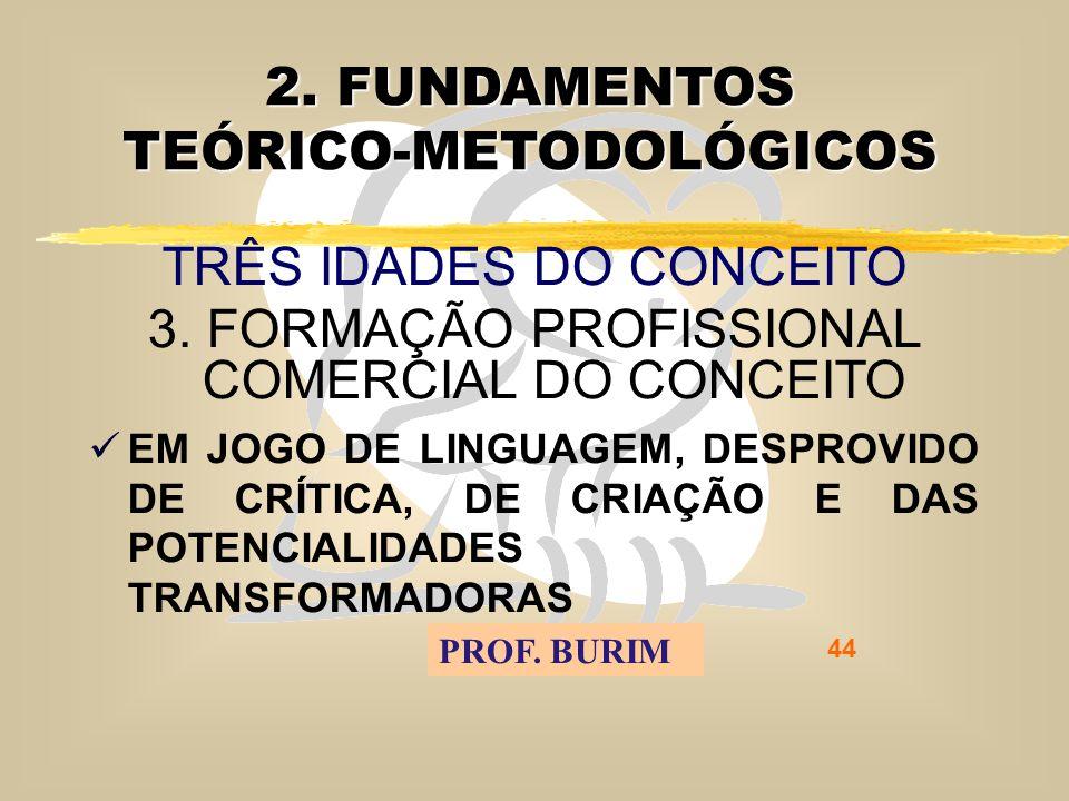 DEB 2008 – D.C.E. 44 2. FUNDAMENTOS TEÓRICO-METODOLÓGICOS TRÊS IDADES DO CONCEITO 3.