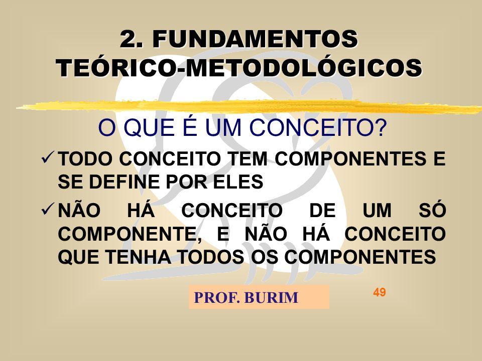 DEB 2008 – D.C.E. 49 2. FUNDAMENTOS TEÓRICO-METODOLÓGICOS O QUE É UM CONCEITO.
