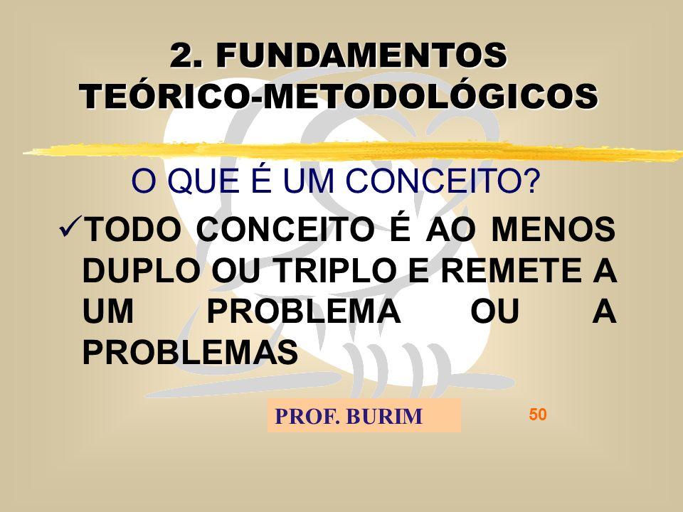DEB 2008 – D.C.E. 50 2. FUNDAMENTOS TEÓRICO-METODOLÓGICOS O QUE É UM CONCEITO.