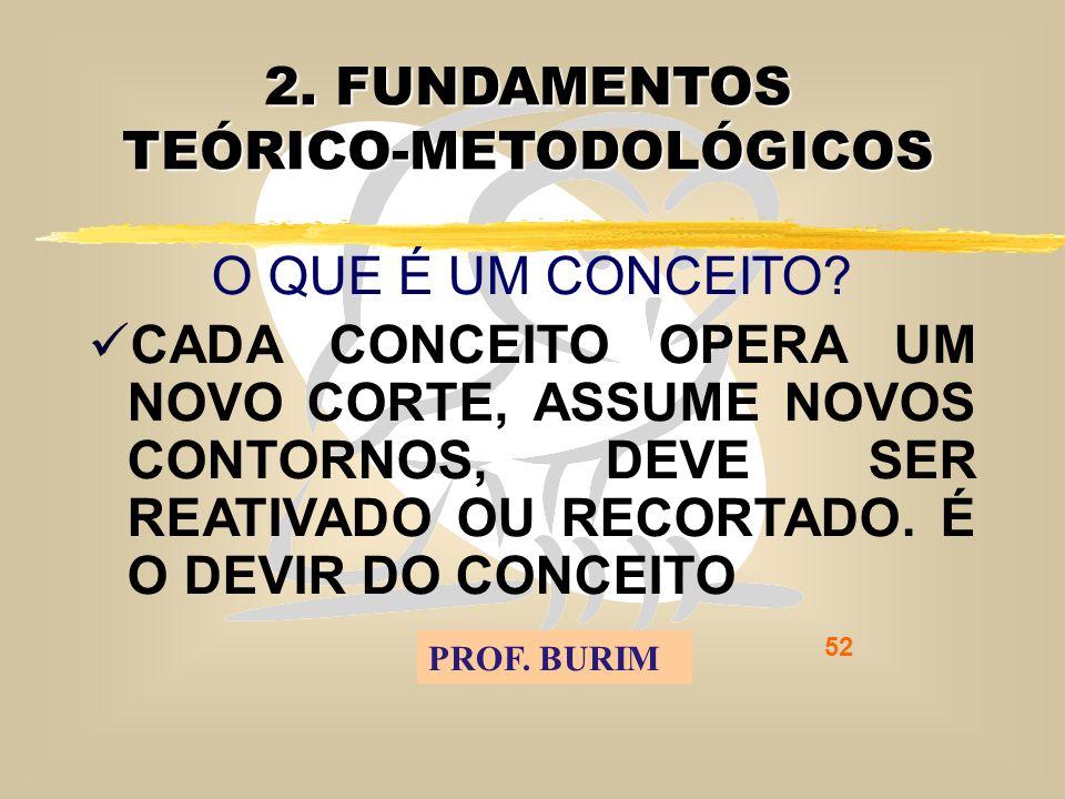 DEB 2008 – D.C.E. 52 2. FUNDAMENTOS TEÓRICO-METODOLÓGICOS O QUE É UM CONCEITO.