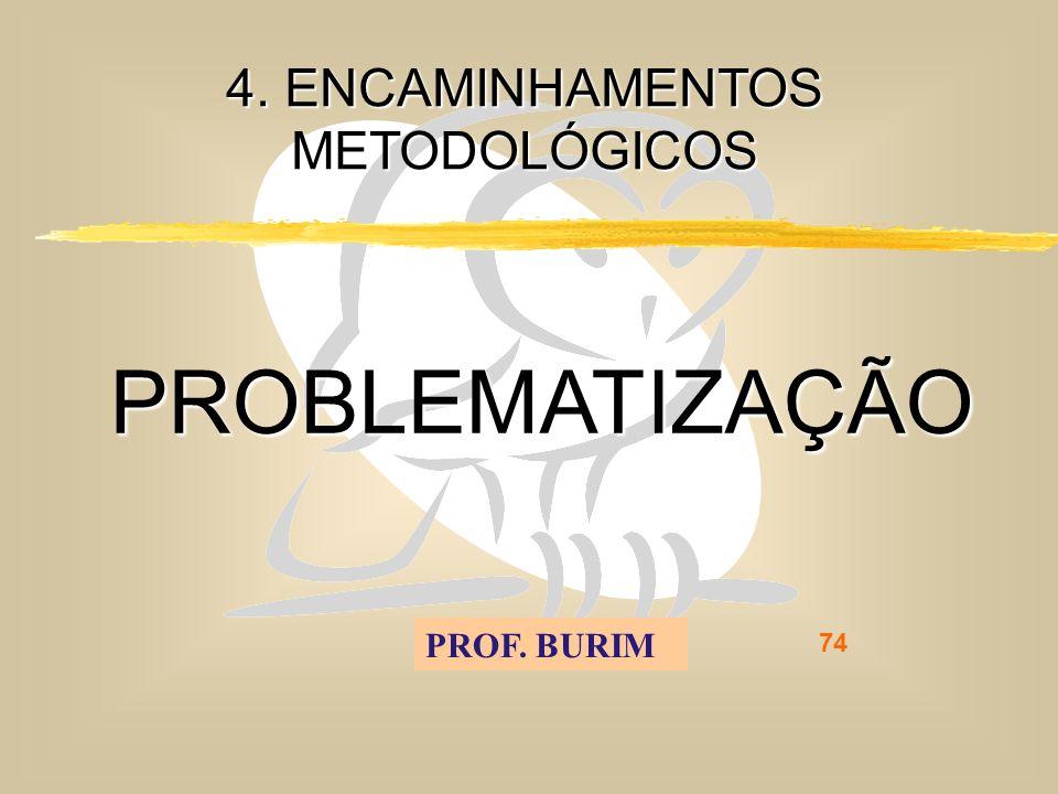 DEB 2008 – D.C.E. 74 4. ENCAMINHAMENTOS METODOLÓGICOS PROBLEMATIZAÇÃO PROF. BURIM