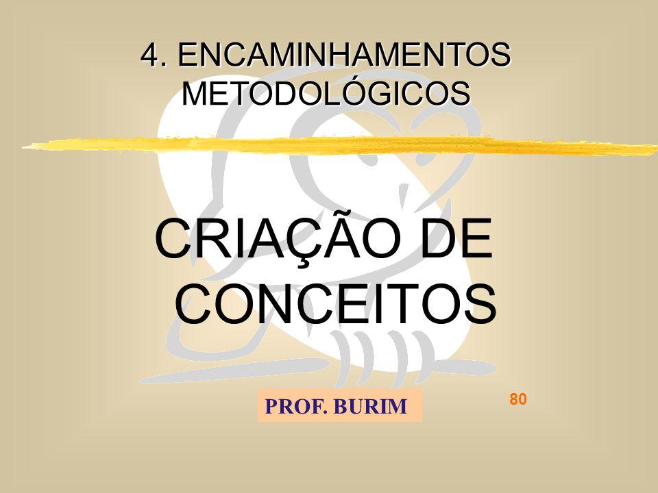 DEB 2008 – D.C.E. 80 4. ENCAMINHAMENTOS METODOLÓGICOS CRIAÇÃO DE CONCEITOS PROF. BURIM