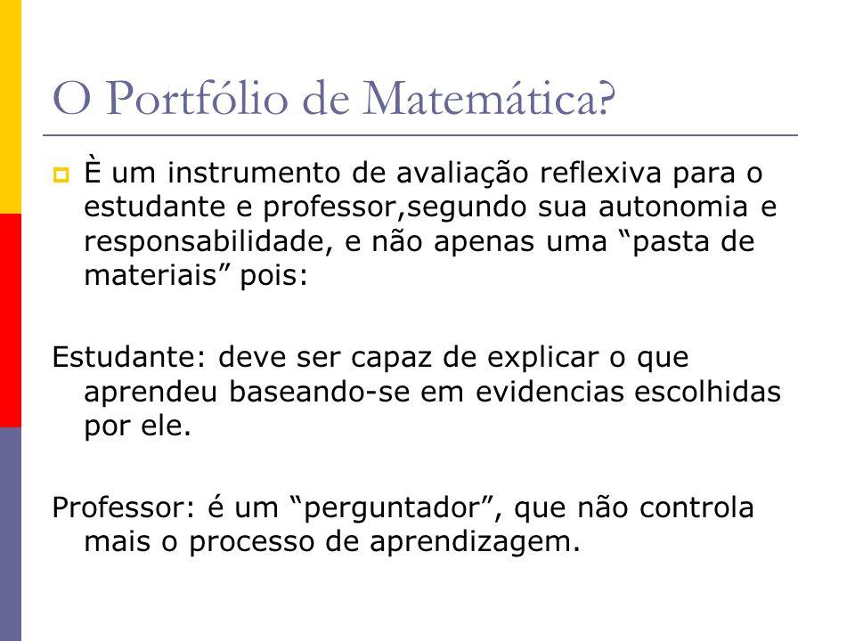 Objetivo do Portfólio de Matemática: Espaço de demonstrar os conteúdos aprendidos.