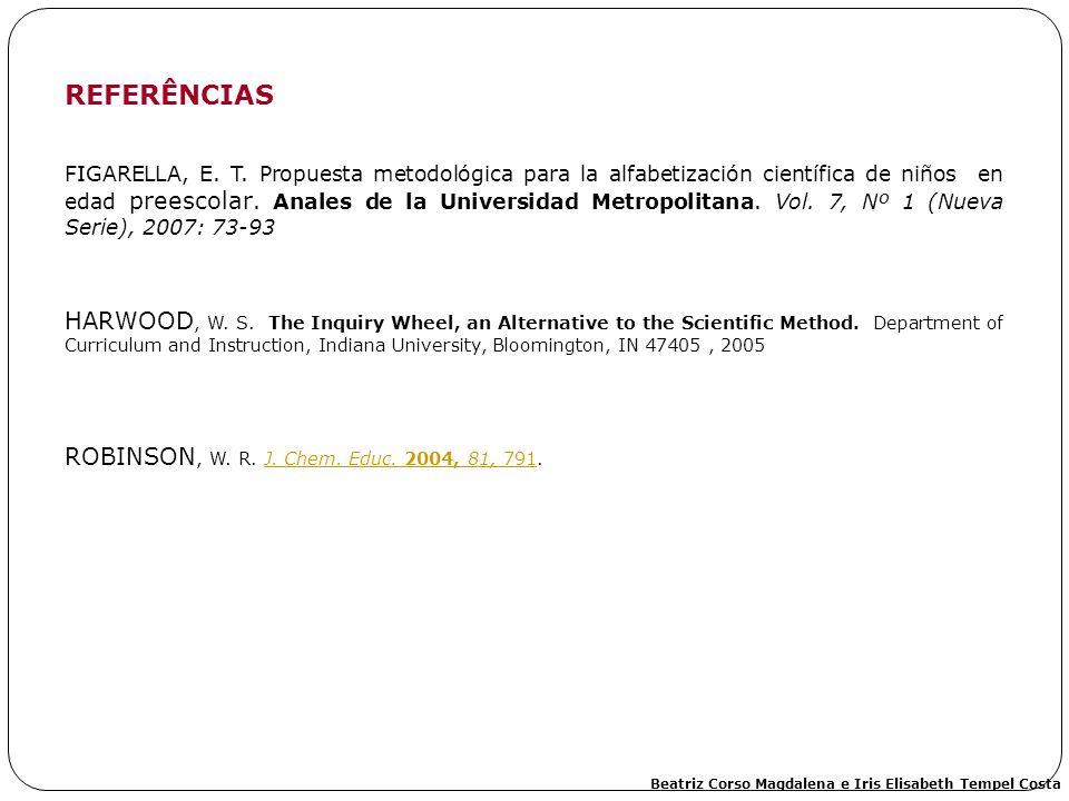 FIGARELLA, E. T. Propuesta metodológica para la alfabetización científica de niños en edad preescolar. Anales de la Universidad Metropolitana. Vol. 7,