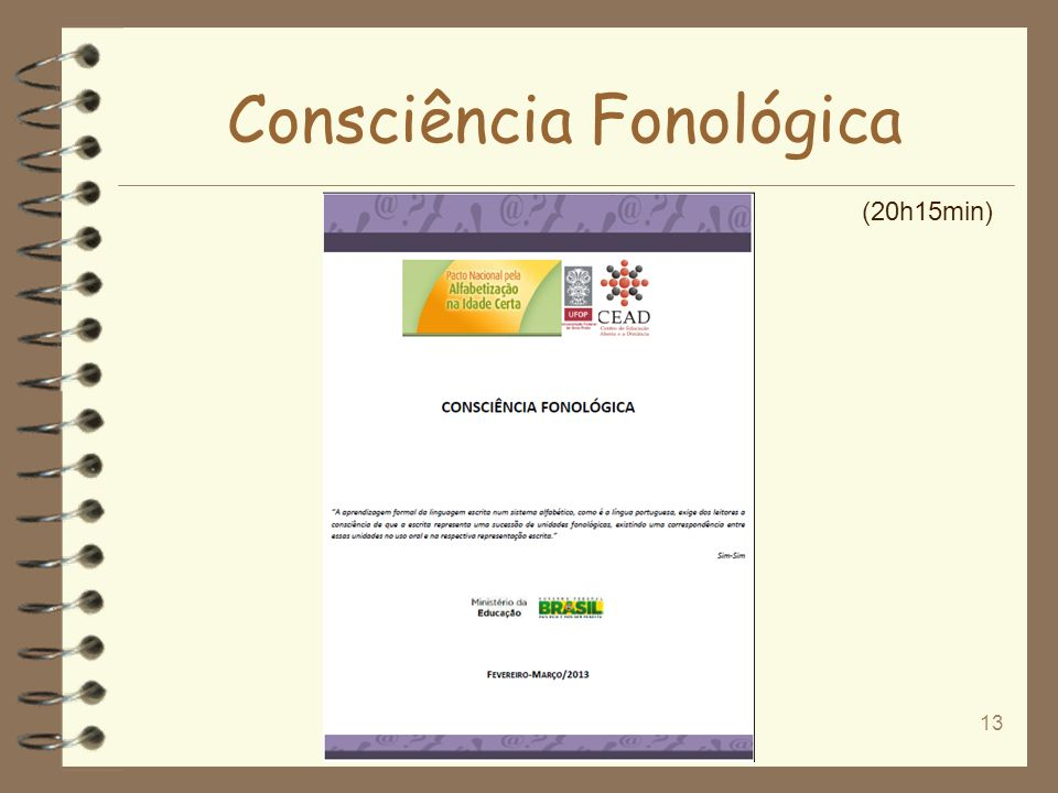 Consciência Fonológica 13 (20h15min)