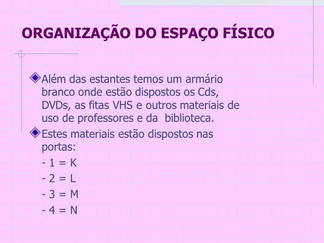 CLASSIFICAÇÃO DO ACERVO Temos enciclopédias como Barsa, Mirador, Larousse Cultural...