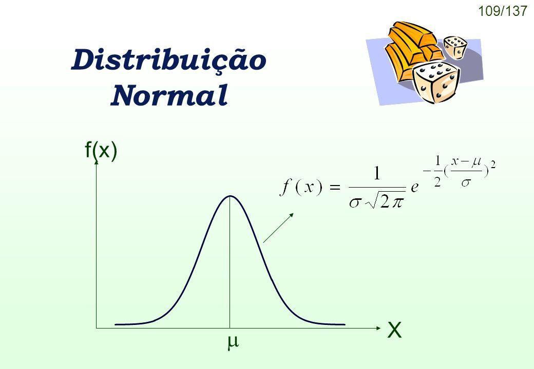 109/137 Distribuição Normal f(x) X
