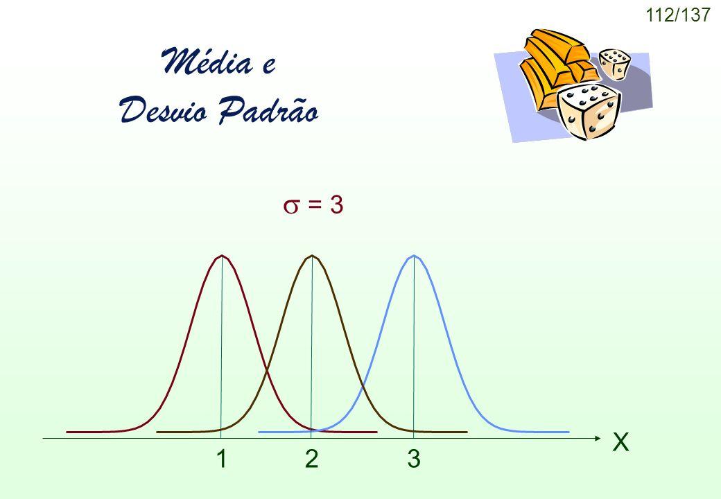 112/137 Média e Desvio Padrão X = 3 1 32