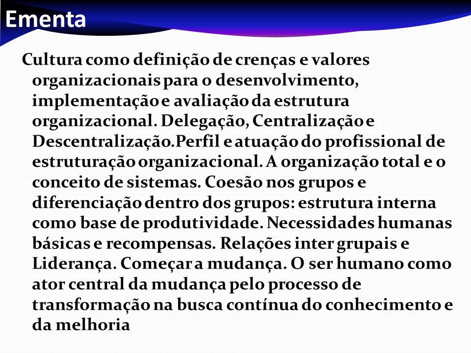 Apoio bibliográfico Bibliografia Básica OLIVEIRA, Djalma de Pinho Rebouças de.