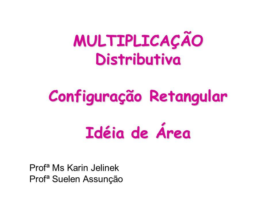 MULTIPLICAÇÃO Distributiva Configuração Retangular Idéia de Área Profª Ms Karin Jelinek Profª Suelen Assunção