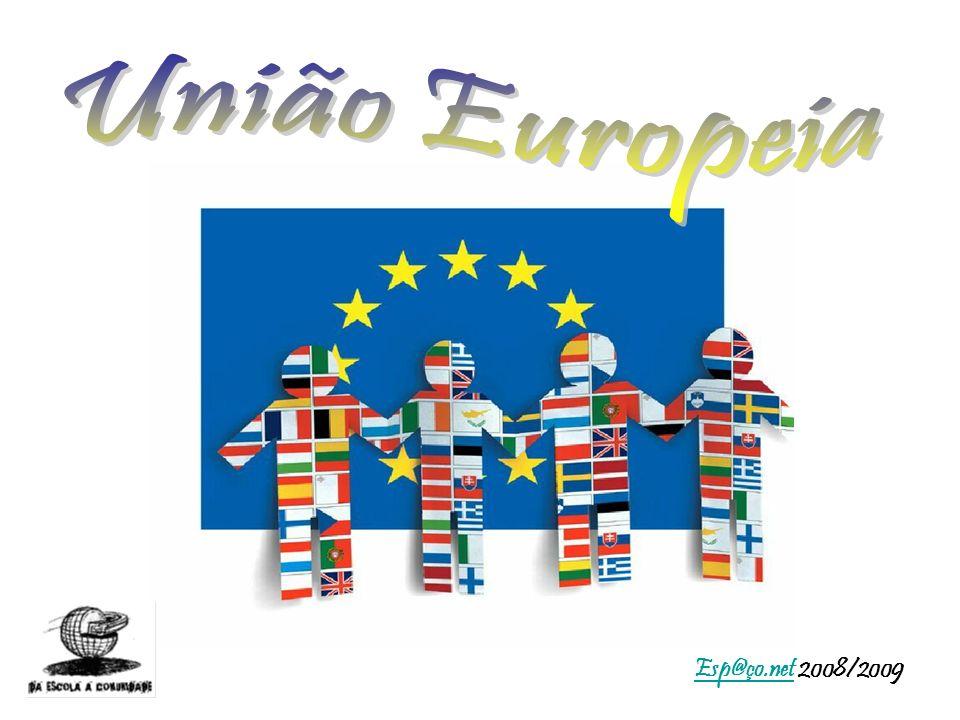 União Europeia Bloco económico formado por países europeus.