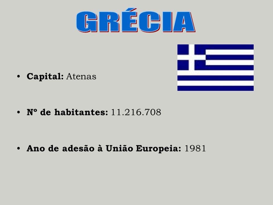 Capital: Atenas Nº de habitantes: 11.216.708 Ano de adesão à União Europeia: 1981