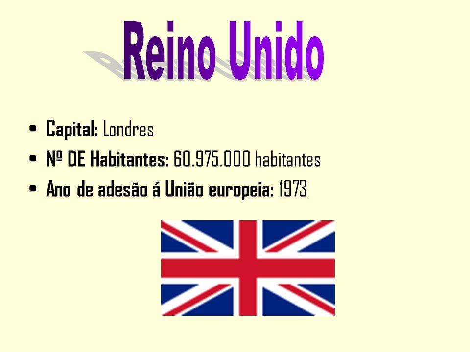 Capital: Londres Nº DE Habitantes: 60.975.000 habitantes Ano de adesão á União europeia: 1973