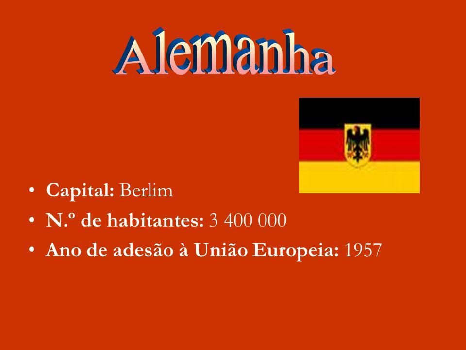 Capital: Berlim N.º de habitantes: 3 400 000 Ano de adesão à União Europeia: 1957