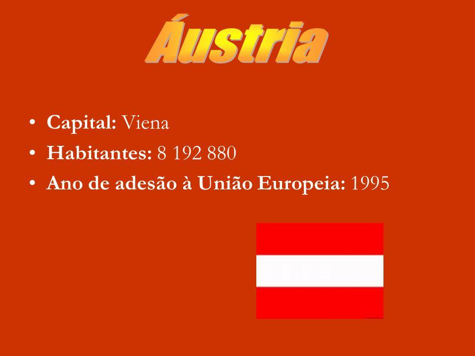 Capital do país: Bruxelas Nº de habitantes: 980.000 Ano de adesão à União Europeia: 1957