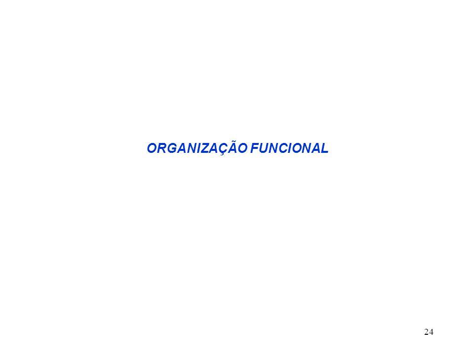 24 ORGANIZAÇÃO FUNCIONAL