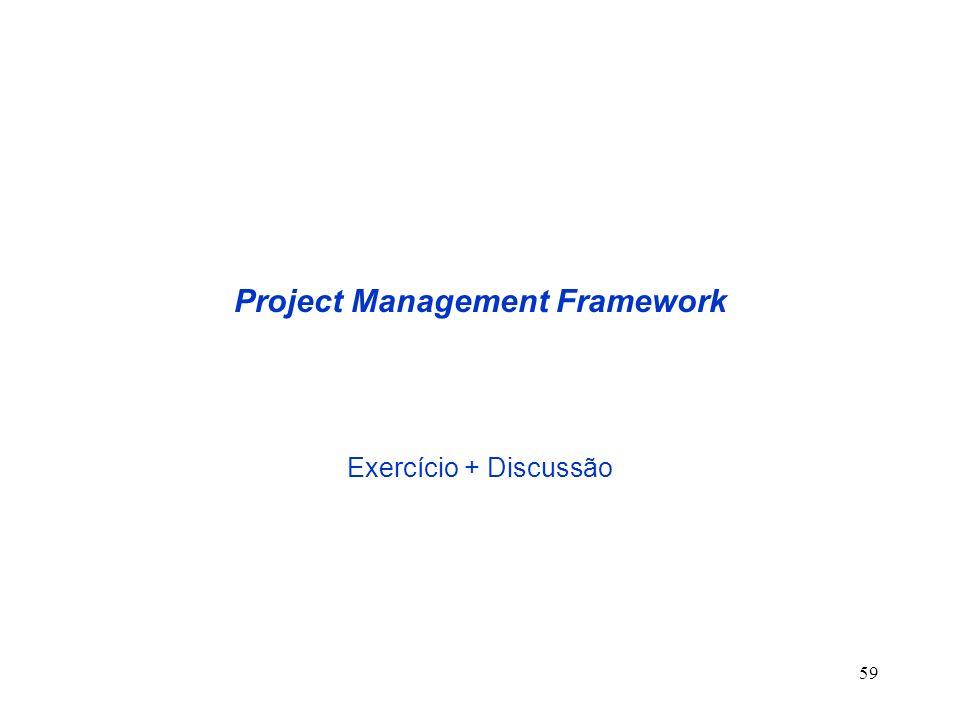 59 Project Management Framework Exercício + Discussão