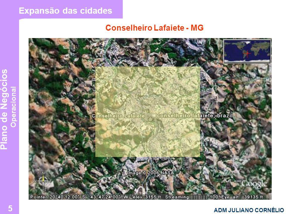 Plano de Negócios Operacional ADM JULIANO CORNÉLIO 5 Expansão das cidades Conselheiro Lafaiete - MG