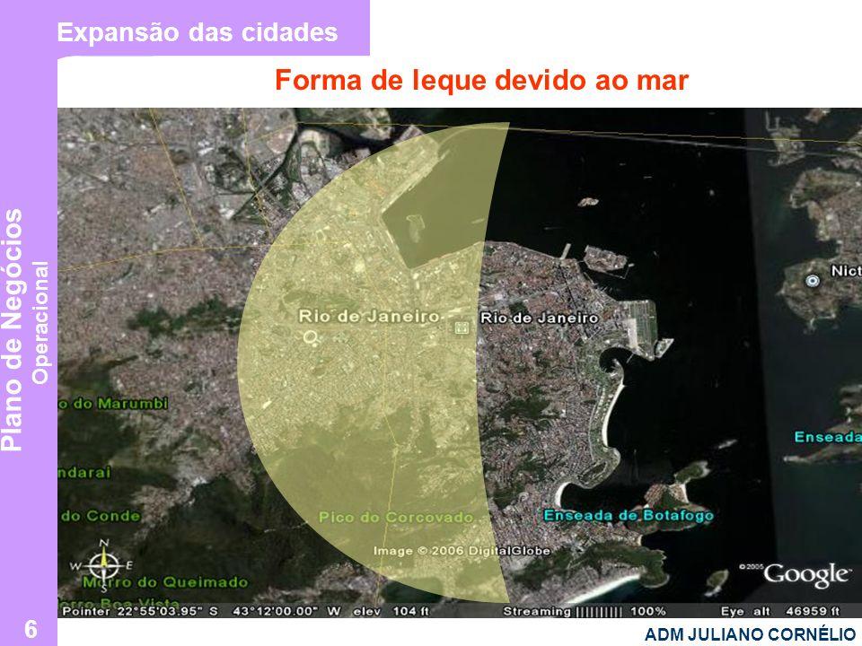 Plano de Negócios Operacional ADM JULIANO CORNÉLIO 6 Expansão das cidades Forma de leque devido ao mar